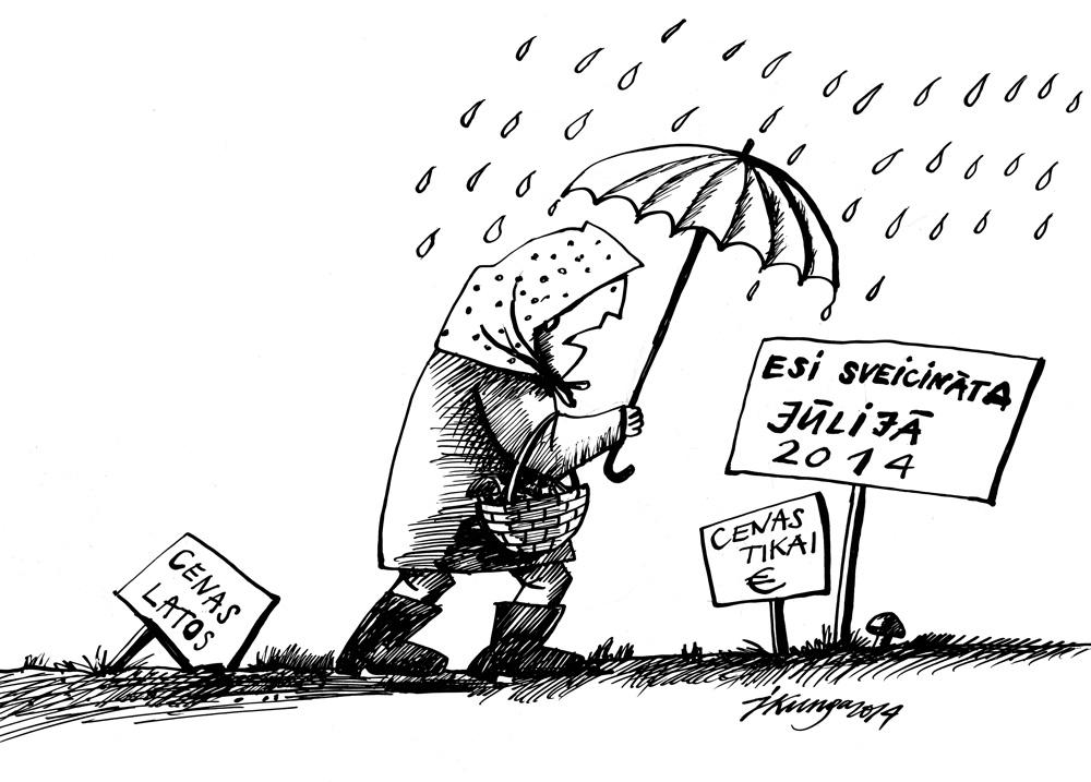 01-07-2014 — Tas gan būs jūlijs! Līst lietus, aug sēnes un nav vairs latu cenu zīmēs.