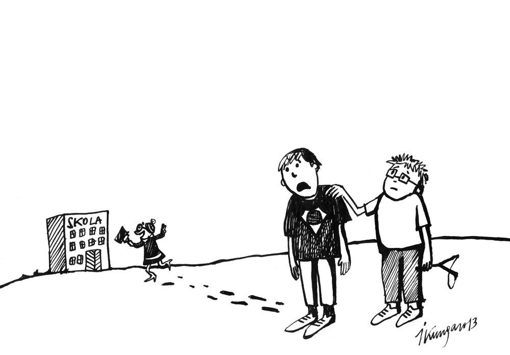 01-08-2013 - Skolā laikam septembrī būs jāiet, skolotāja tā priecājas, ka valdība nolēmusi, ka tomēr algas būs.