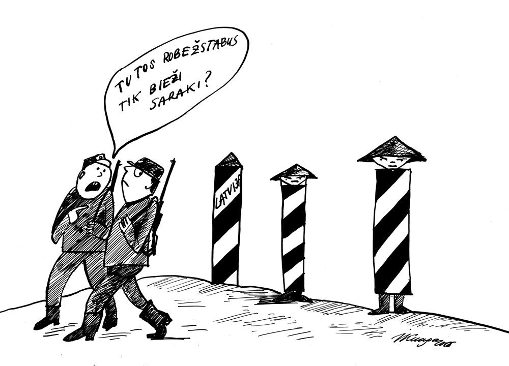 01_06-2015 — No septembra Latvijā pār zaļo robežu ir centušies iekļūt jau gandrīz 200 vjetnamiešu.