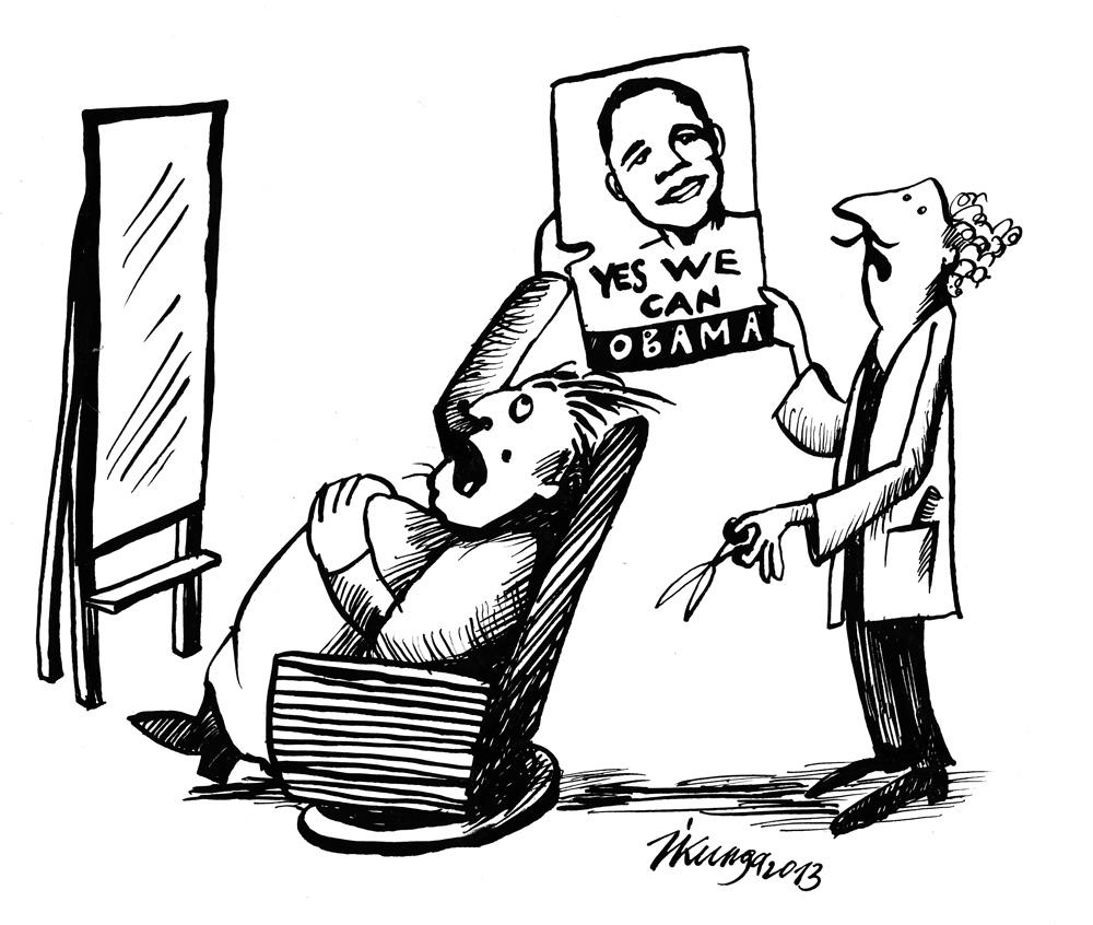 02-05-2013 Deputāts pie friziera. - Man tādu pašu kā viņam, jo viņš tika divreiz pēc kārtas ievēlēts!