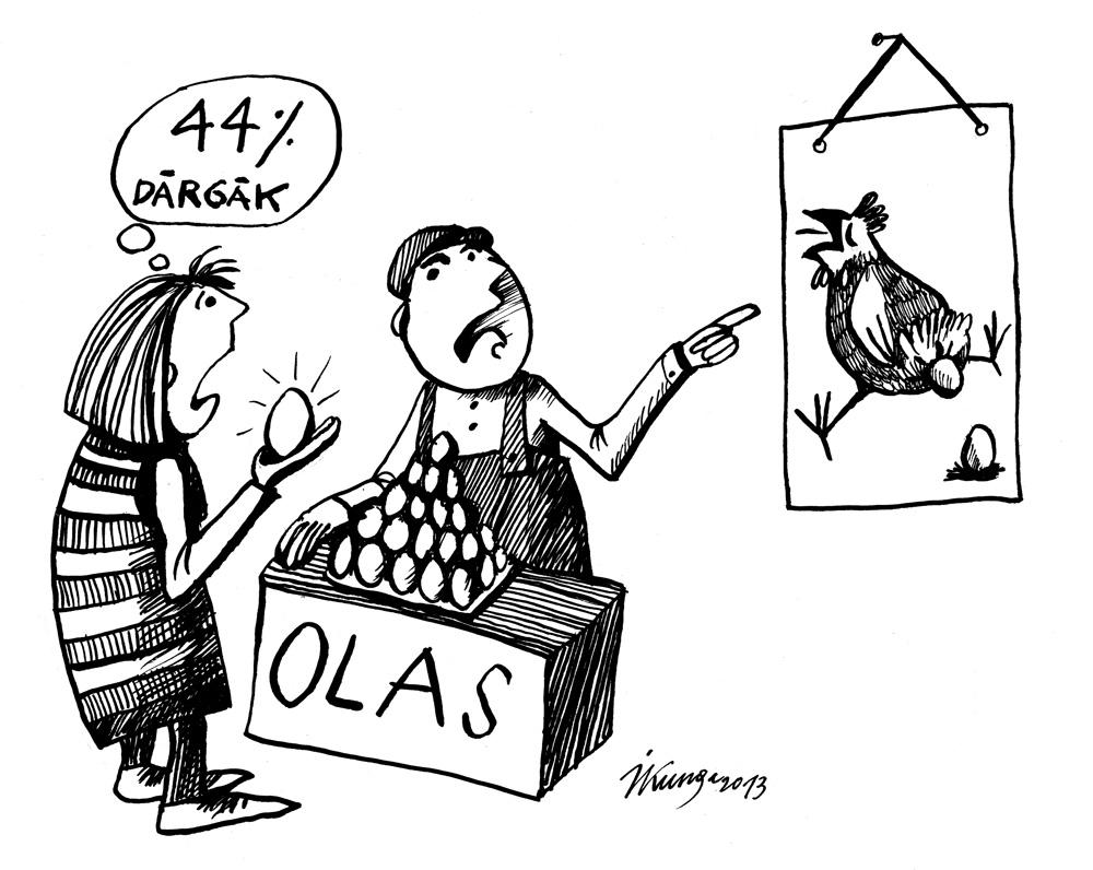 02-05-2013 — Nebrīnieties par cenu, jūs tagad maksājat arī par vistas ciešanām!
