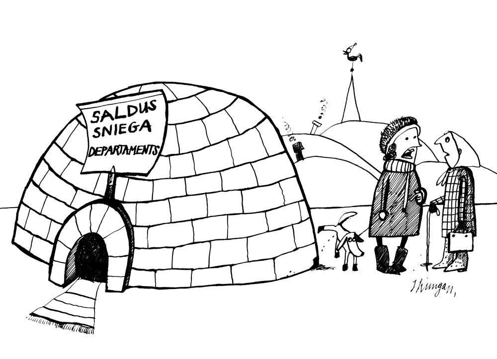 03-01-2011 Sniega departamentam Saldū ir atrastas telpas izmantojot vietējos sniega resursus.