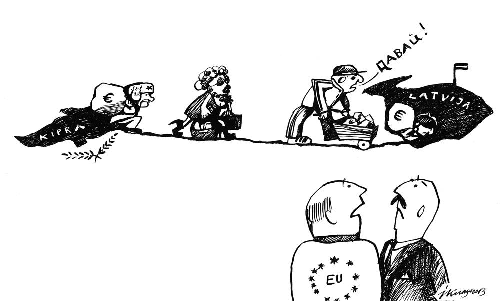 03-05-2013 — Nerezidenti, glābjot savu naudu, aizbērs Latvijas ceļu uz eiro.