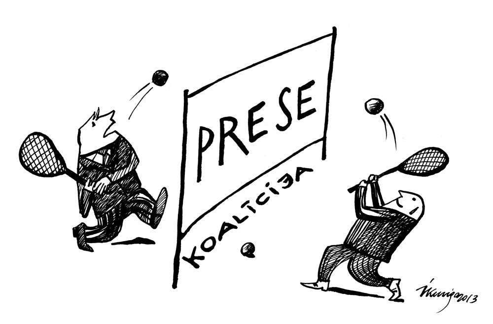 04-02-2013 — Saeimas koalīcijai problēmas ar komunikāciju.