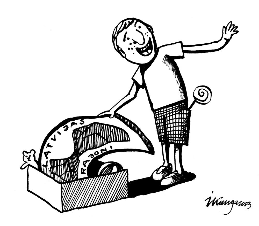 04-03-2013 Sprūdža Kungs: — Skat, ko es atradu savā bērnības rotaļu kastē, – jaunu reģionālo reformu!