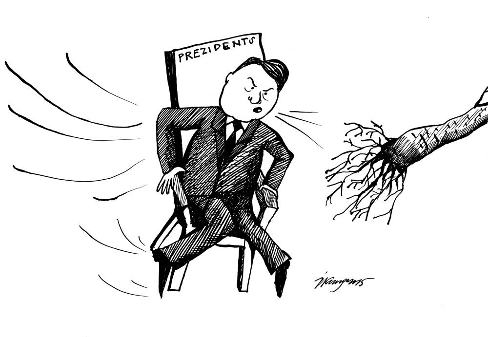 04-06-2015 - Ļoti vējainā dienā Vējonis kļuva par prezidentu.
