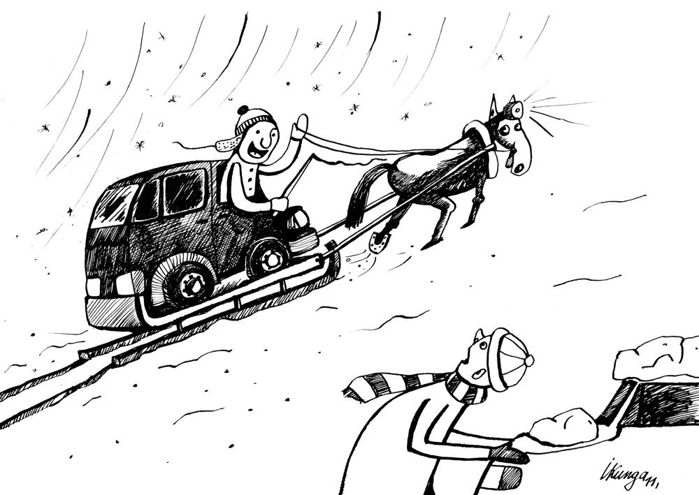 05-01-2011 Ar pielāgošanos dabas apstākļiem un degvielas cenām. – Sveiks kaimiņ, es jau braucu! Un tu?