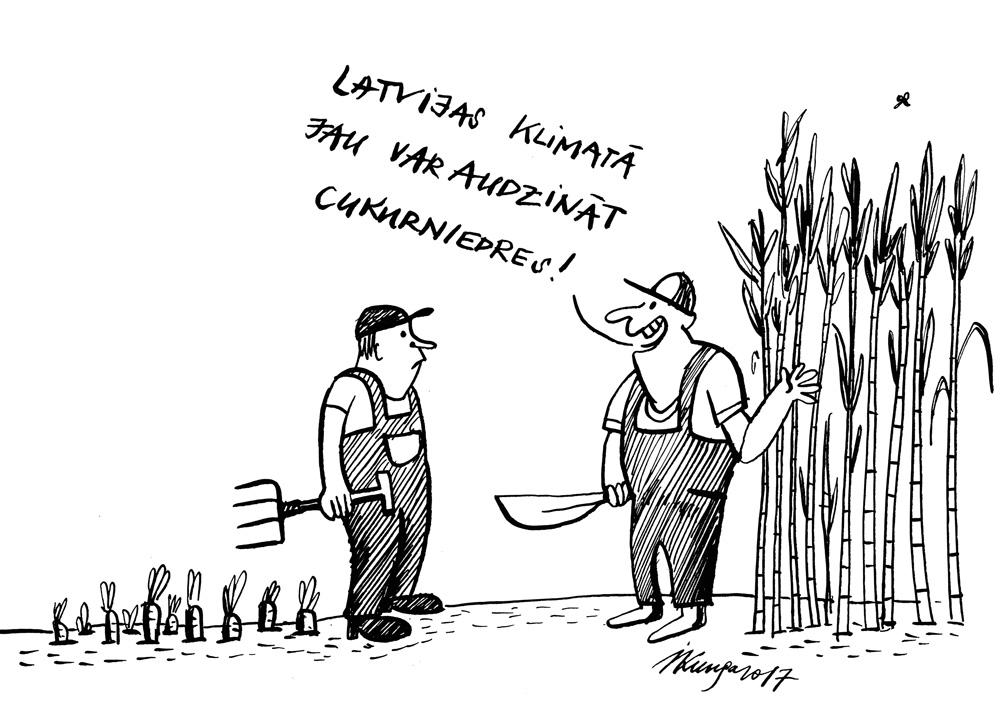 06-03-2017 - Zinātnieki izpētījuši, ka Latvijā klimats kļūs arvien siltāks.