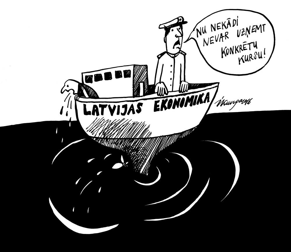 06-04-2016 — Ministru prezidents Kučinskis saka, ka Latvijas ekonomikas kuģis dreifē.
