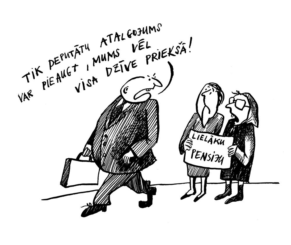 06-11-2017 Deputātiem alga nākamajā gadā pieaugs par 131 eiro.