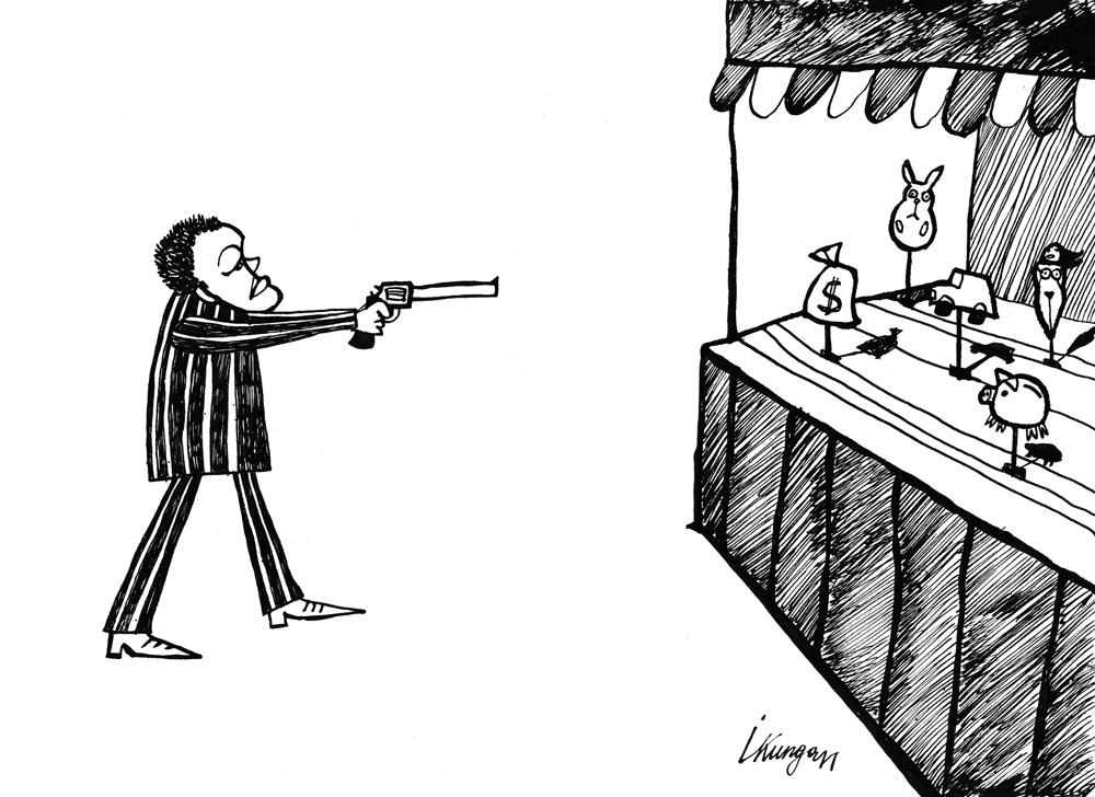 07-01-2011-2 Valsts dāvinot ieroci ir daļēji piepildījusi bijušā ministra Repšes bērnības sapni.