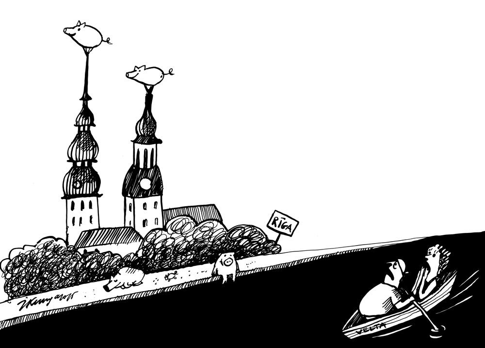 07-05-2015 — Rīgu apsēdušas mežacūkas.