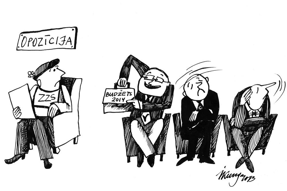 07-10-2013 — ZZS, varbūt jums patīk šī gada budžets? Manējie sabiedrotie nav apmierināti.
