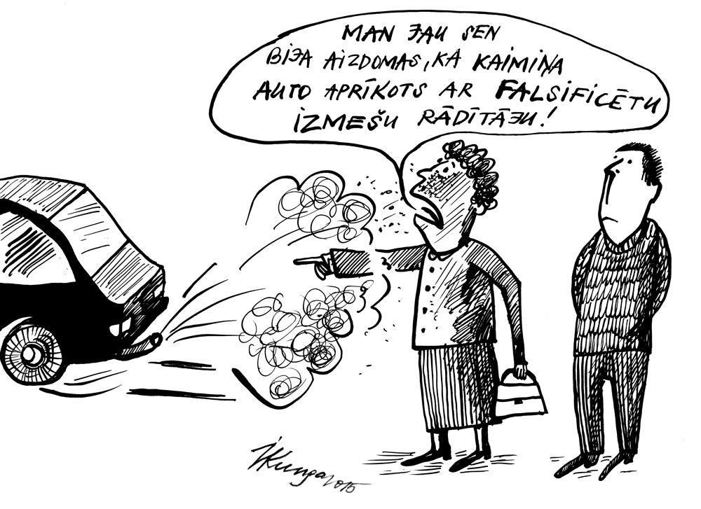 07-10-2015 — 8 miljoni automašīnu ES aprīkotas ar falsificētiem izmešu rādītājiem.