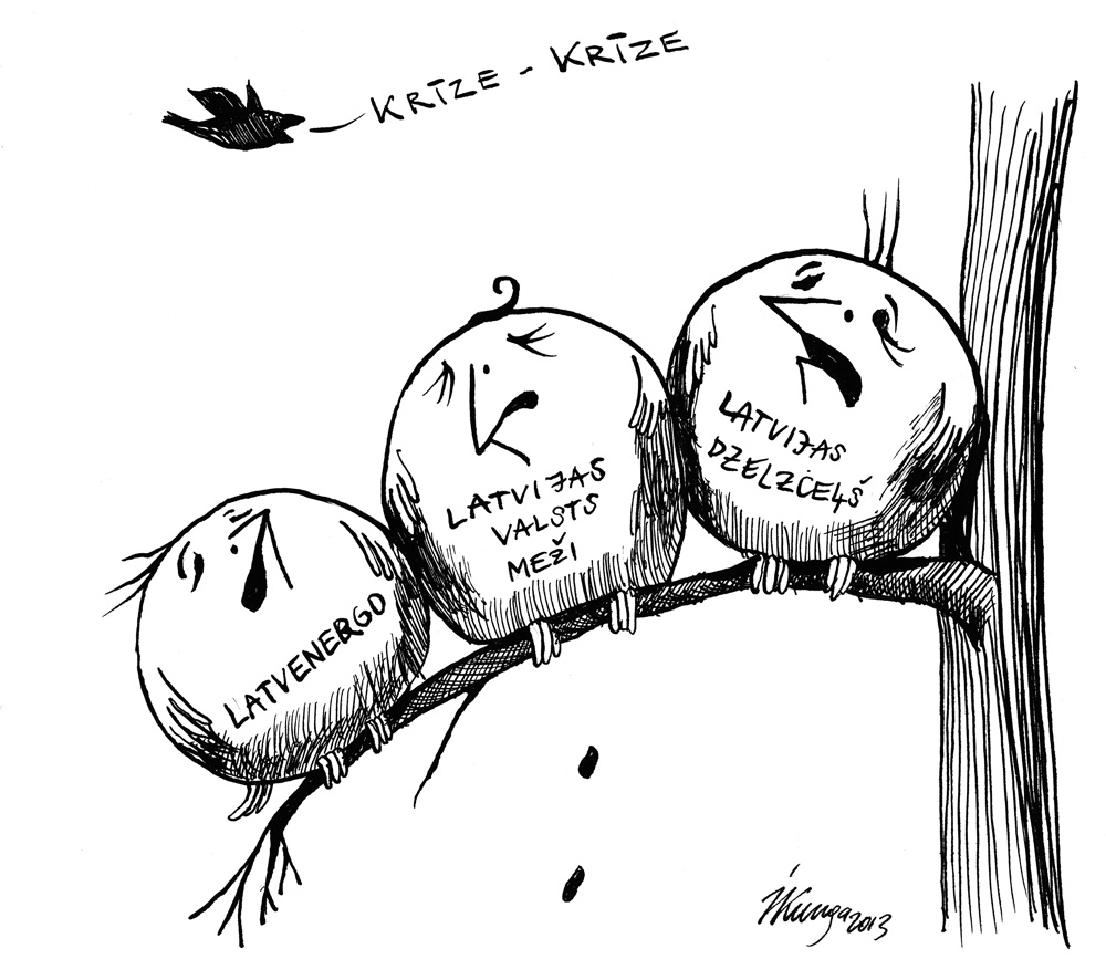 09-01-2013 Kādu dienu barības ķēdes augšgalā. — Cik ilgi var ciest vārdu — krīze? — Paaugsinām beidzot kārtīgi mūsu algas!