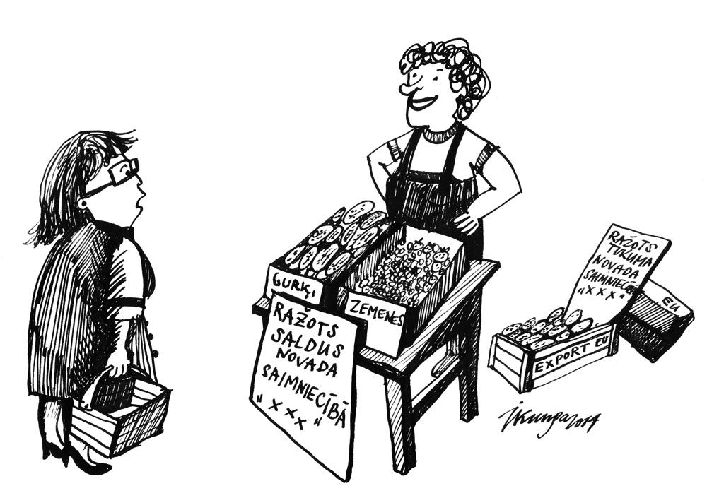 09-06-2014 — To saimniecību zinu, tur neviens zemenes neaudzē! — Vai tad jums nav vienalga, galvenais ka audzētas Eiropā!