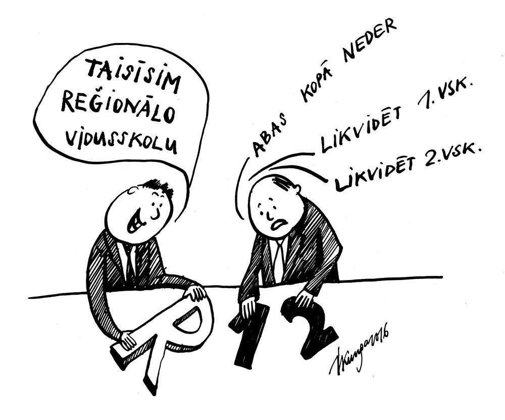 10-02-2016 — Saldus novada domes idejas par skolu reformēšanu.