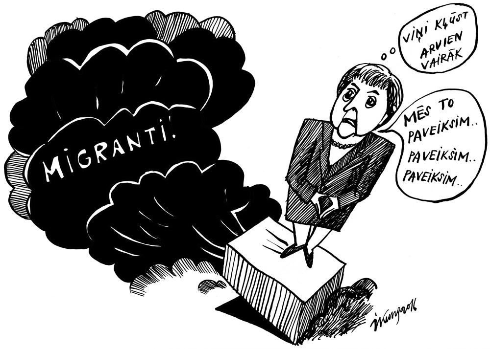 10-03-2016 — Merkele pārāk zemu novērtējusi migrantu krīzi.