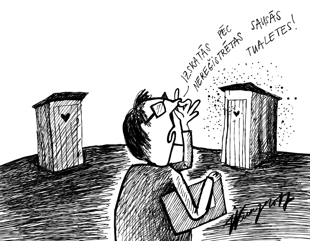 10-08-2017 - Plānots, ka būs obligāti jāreģistrē sausās tualetes un ka reizi gadā katrai sausajai tualetei būs jāveic tehniskā apkope.