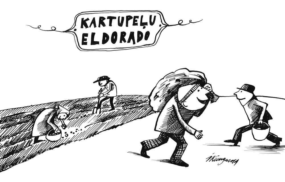 10-09-2014 Latvijā kartupeļu lasīšanas laiks.