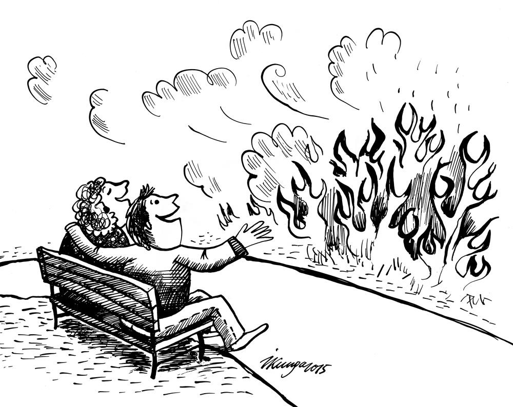 11-03-2015 — Gaisā jūtams pavasaris, kūlas dedzināšanas sezona ir sākusies.
