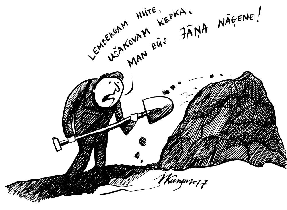 12-06-2017 Latvijā politiķiem patīk iemūžināt savas galvassegas.