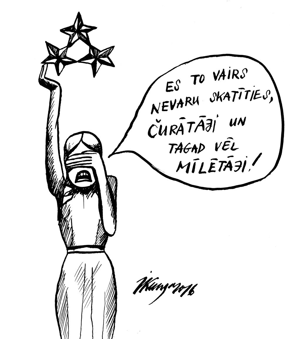 12-12-2016 — Necieņa pret lēdiju jeb Brīvības pieminekļa nedienas.