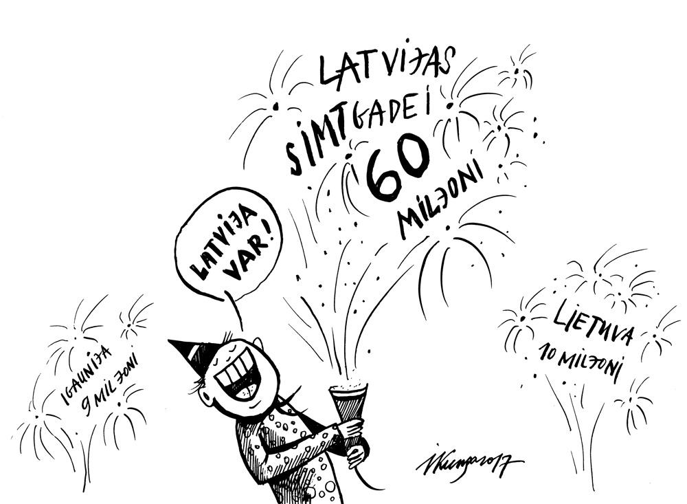 13-11-2017 Latvija simtgadei ziedo vairāk nekā citas Baltijas valstis.
