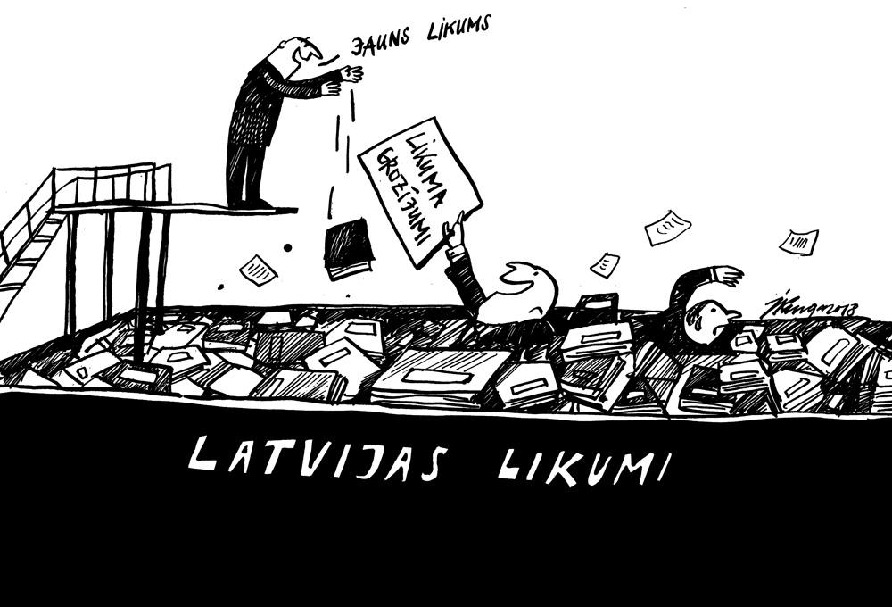 14-02-2018 — Tieslietu ministrija komentē, ka Latvija grimst normatīvajos aktos.