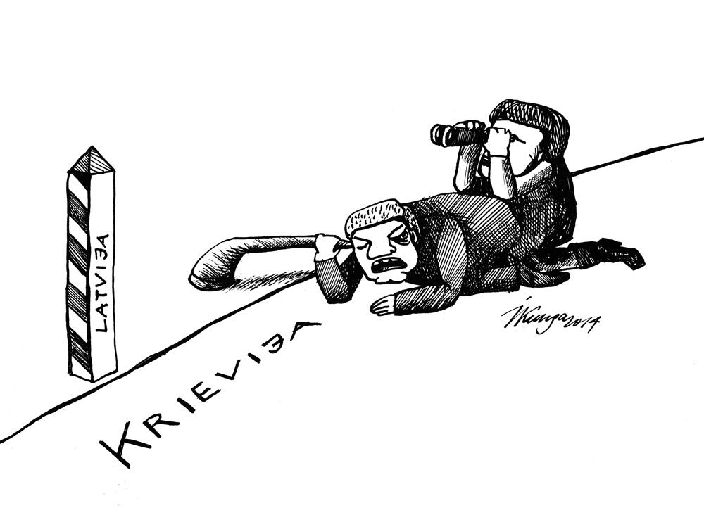 14-04-2014 Krievija pēta Latvijas iedzīvotāju noskaņojumu: — Vai sauc pēc mums? Es nekā neredzu!
