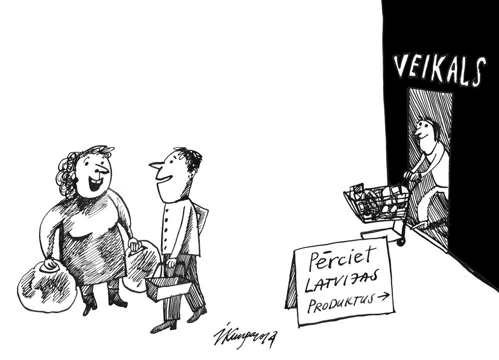14-08-2014 - Skat, kaimiņ, es tagad atbalstu jauno akciju - pērku tikai Latvijas produktus! - Vai tad pirms tam nepirkāt?