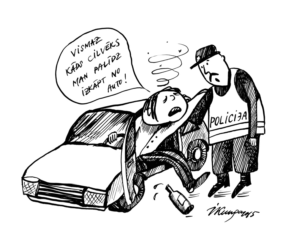 14-09-2015 — Īpaši daudz noķerto autovadītāju ar lielu alhokola promiļu skaitu!