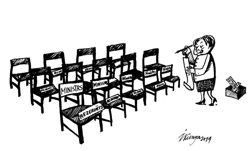 15-01-2014 Straujuma: — Nu katram krēslam ir beidzot savs sēdētājs.