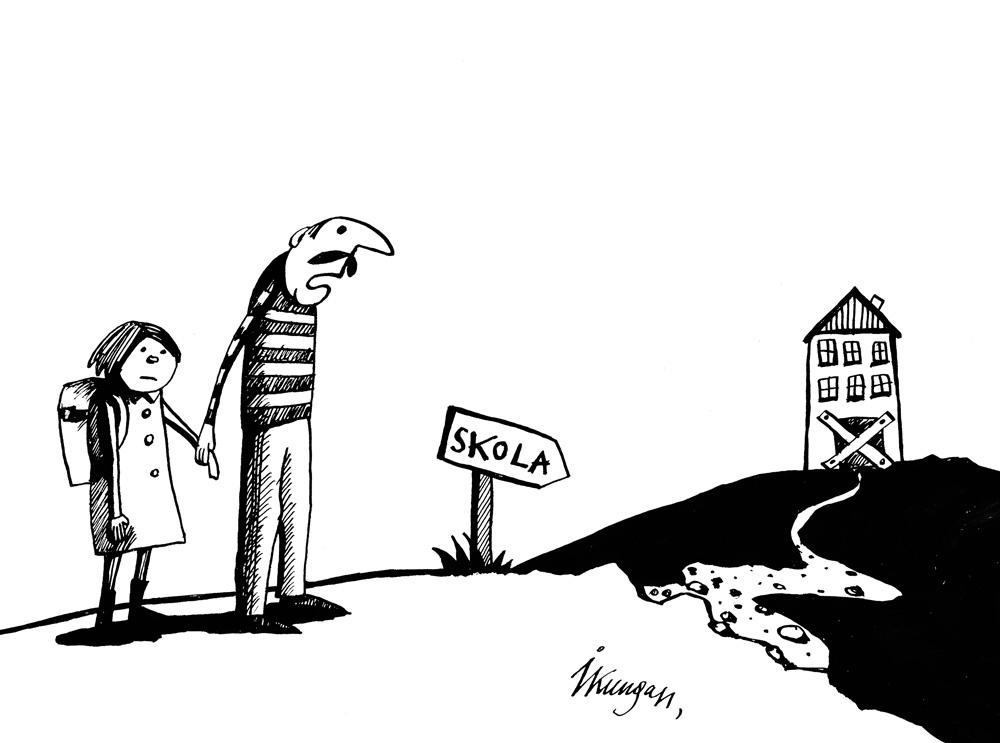 15-04-2011 Skat, skolu slēguši, nekas tu piederēsi pie tiem 5%, kas skolu Lavijā neapmeklēs.