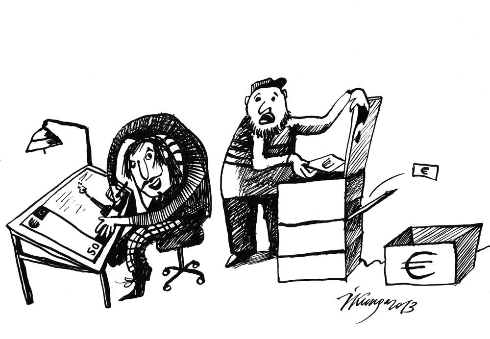 15-05-2013 — Paklau, vai uz eiro banknotēm ir Brīvības piemineklis? — Nē, tā ir mana mākslinieciskā brīvība!