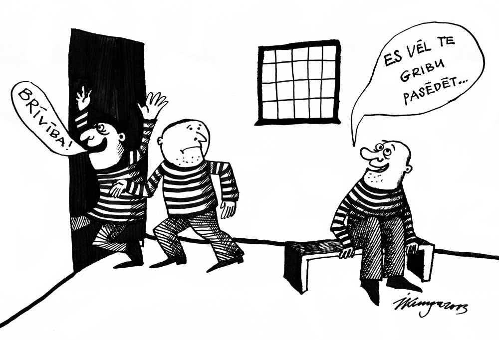 """15-08-2013 — Katrs trešais cietumnieks ir """"profesionālais sēdētājs""""."""