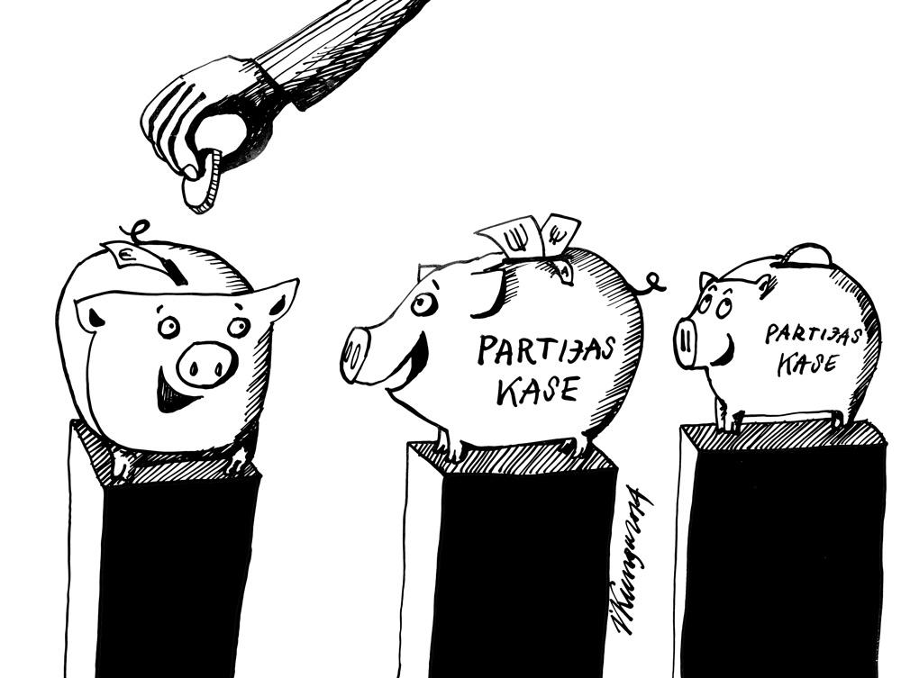 15-09-2014 — Cik dāsni šogad ir ziedotāji, ātri piepildījuši partijas kases!