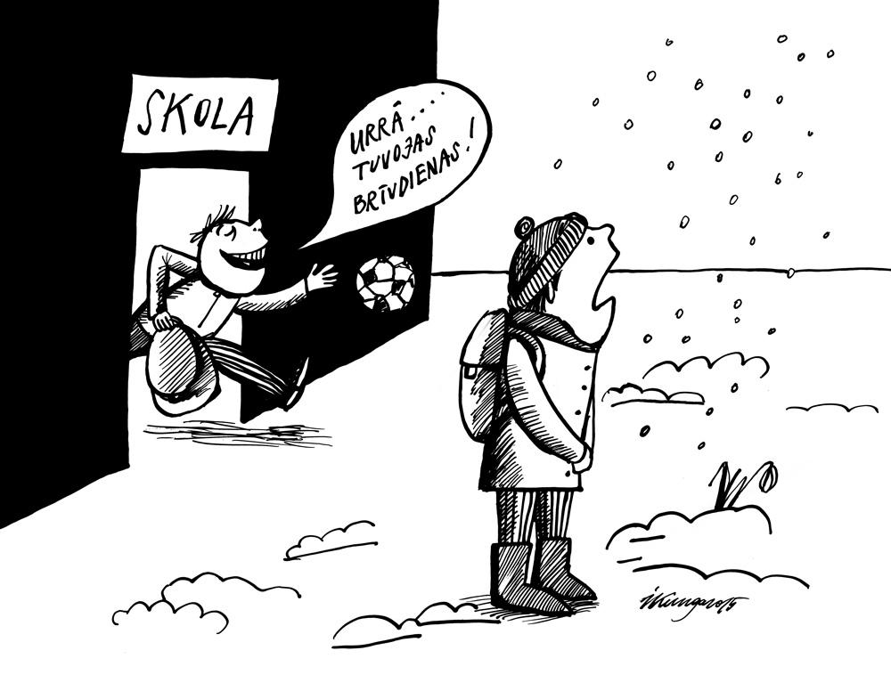 16-03-2015 — Urrā, tuvojas brīvdienas! — Un ziema arī atgriežas!