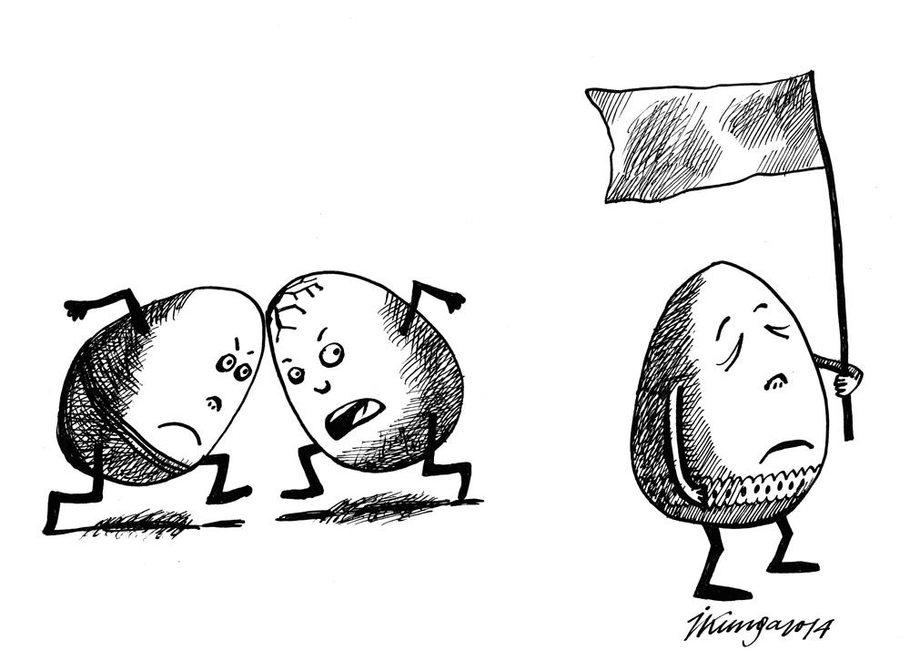 16-04-2014 — Tā Lieldienu ola vairs olu kaujās negrib piedalīties, esot par mieru pasaulē!