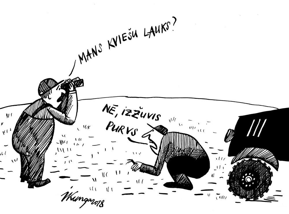 16-04-2018 Daļai lauksaimnieku būs jāpārsēj lauki, jo izslīkuši vai izsaluši.
