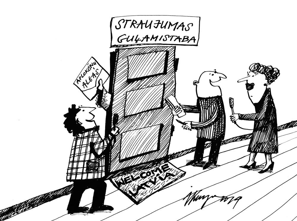 16-06-2014 — Kad labi izgulējusies, Straujumas kundze nāk ar jaunām idejām — šodien iesaka par aplokšņu algām sodīt abas puses, ņēmējus un devējus!