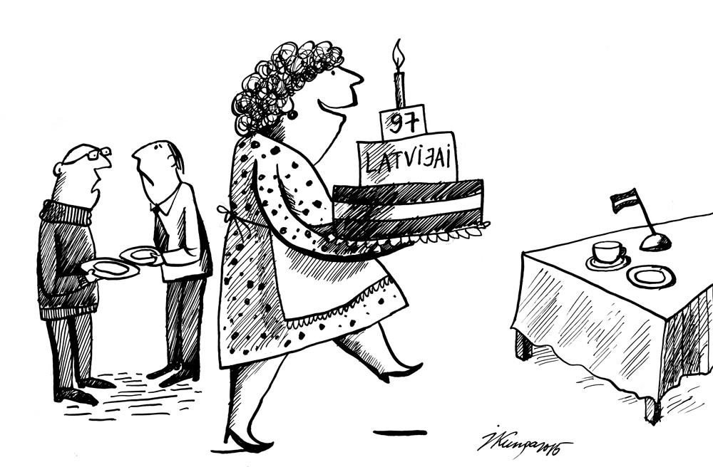 16-11-2015 — Trīsstāvīga torte Latvijai! Mūsu kāzās bija tikai rozīņu kliņģeris…