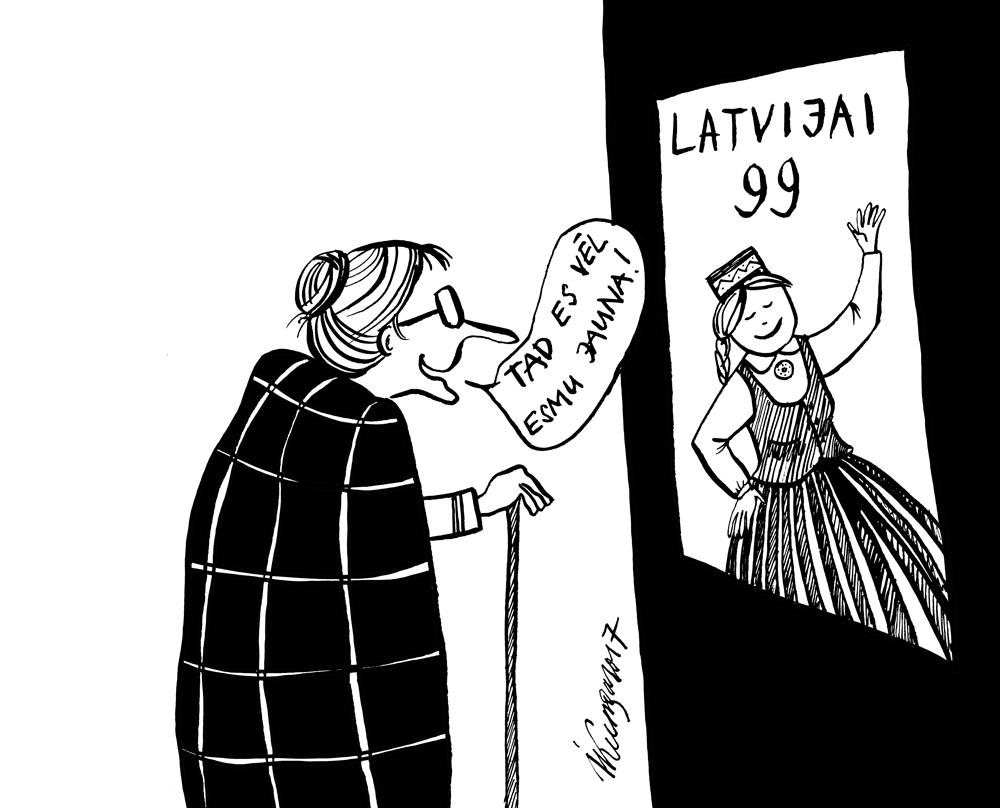 16-11-2017 Latvija vēl jauna! Sveiciens svētkos!