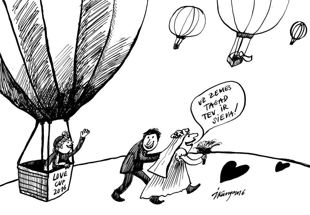 17-02-2016 — Valentīndienā sasniegts jauns Ginesa rekords! Gaisa balonos salaulājušies 50 pāri.