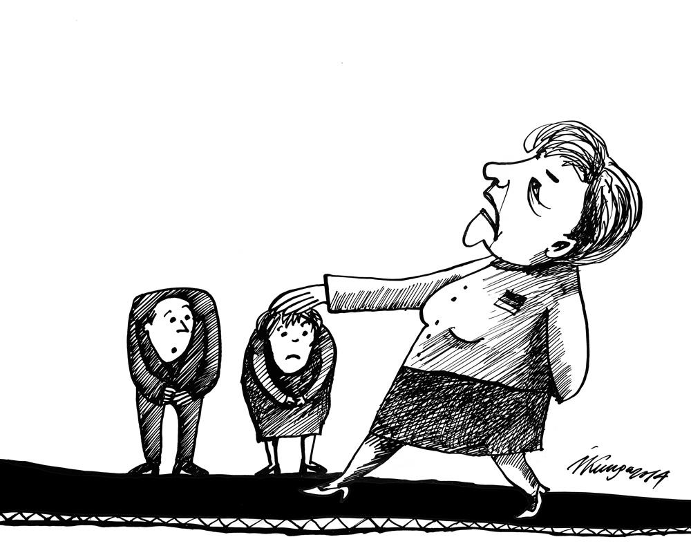 18-08-2014 Varenā Merkele ieradusies Latvijā - nu būs paklausīgi jāuzklausa!