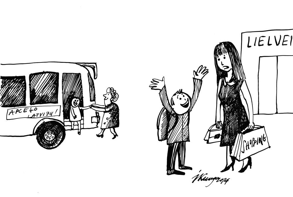 18-09-2014 — Māmiņ, mūs skolas ekskursijā neveda tikai uz lielveikalu, bet parādīja, ka Latvija ir daudz lielāka!