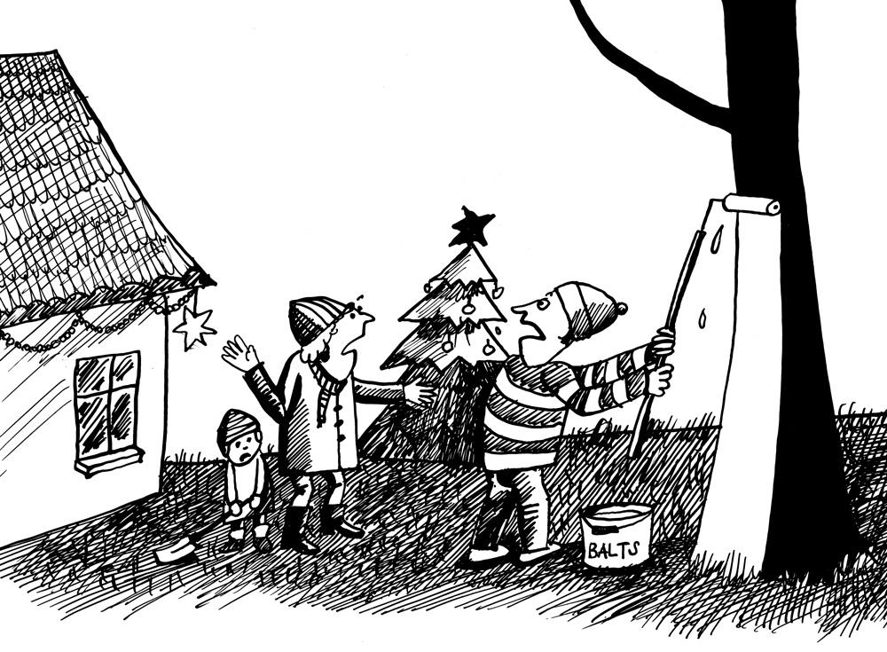 18-12-2014 — Es bērniem šogad apsolīju baltus Ziemassvētkus!