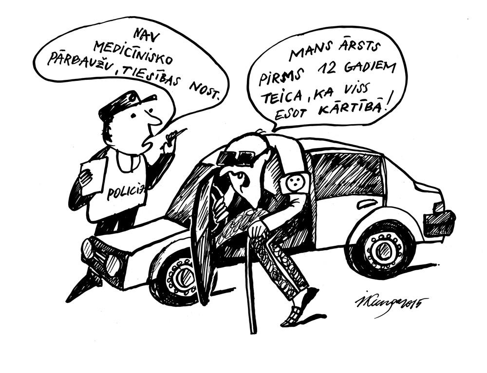 19-08-2015 — Par nederīgu medicīnisko izziņu šoferiem stājies spēkā autovadītāja tiesību aizliegums.