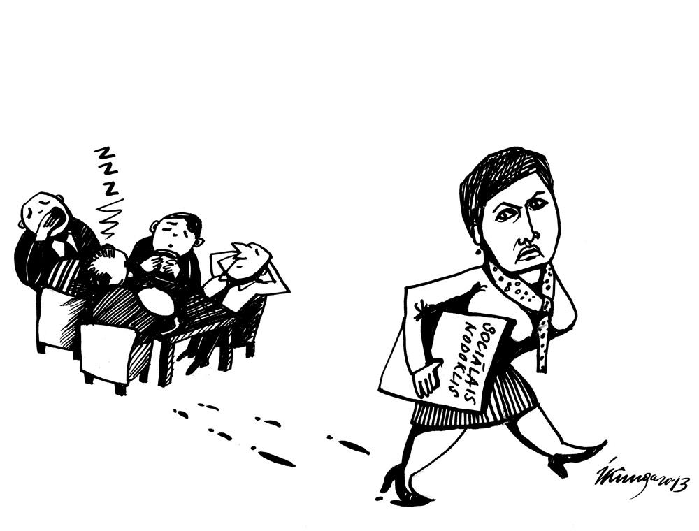 19-09-2013 Viņķele: — Ja politiķi neālēsies, sociālais nodoklis nebūs jāpalielina.