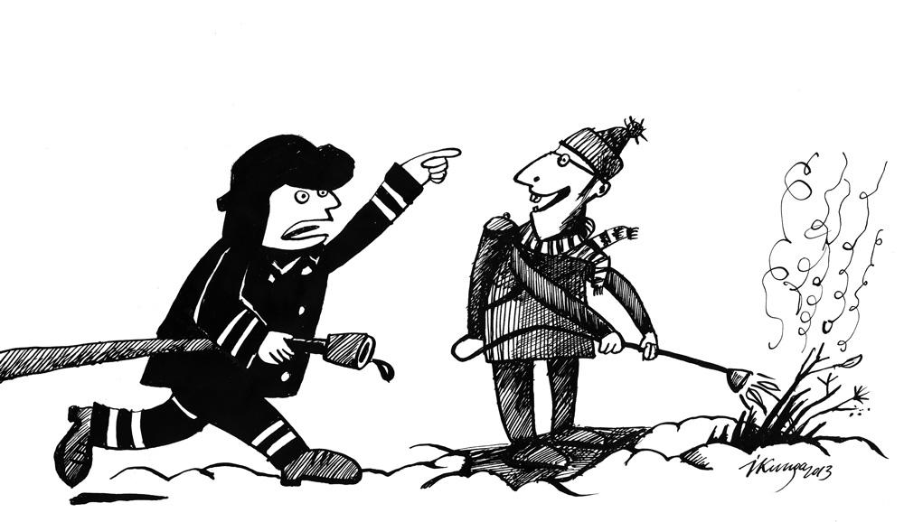 20-03-2013-1 - STOP! Kūlu dedzinām!!! - Nē, es tik kausēju sniegu.